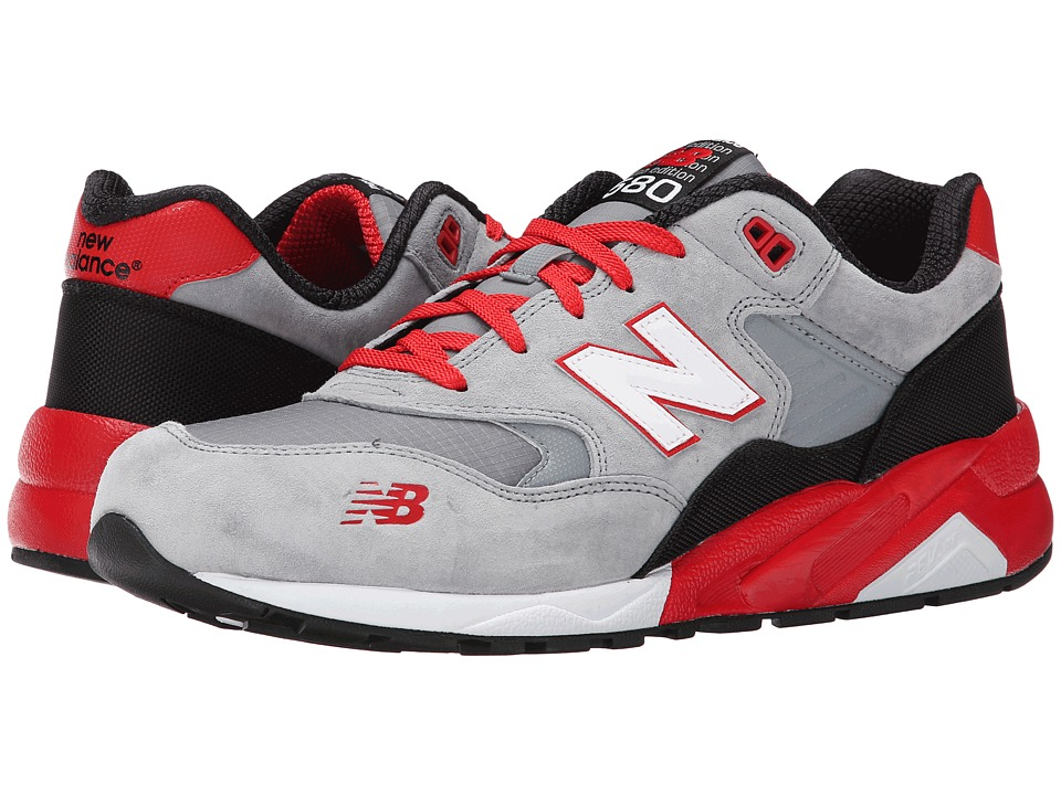New Balance Classics - MRT580 (Grey/Red/Suede/Mesh) Men's Classic Shoes