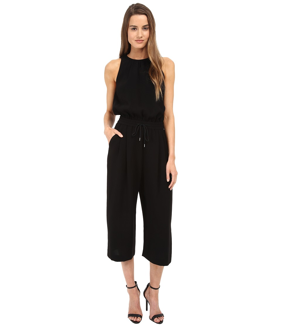 McQ - Pleat Front Playsuit (Darkest Black) Women's Jumpsuit & Rompers One Piece