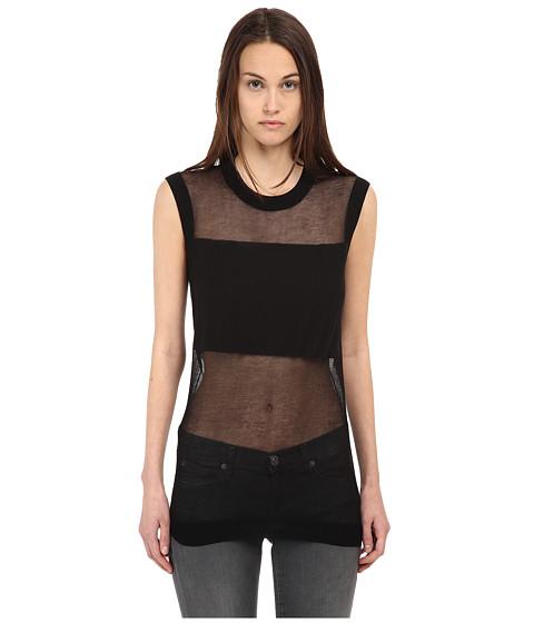 McQ - Crew Neck Sleeveless Top (Darkest Black) Women's Clothing