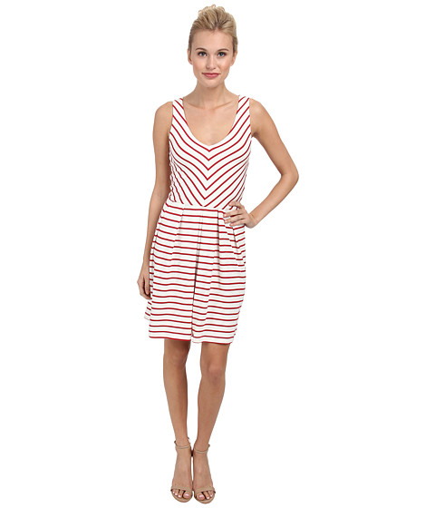 Tart - Boudica Dress (Red Stripe) Women's Dress