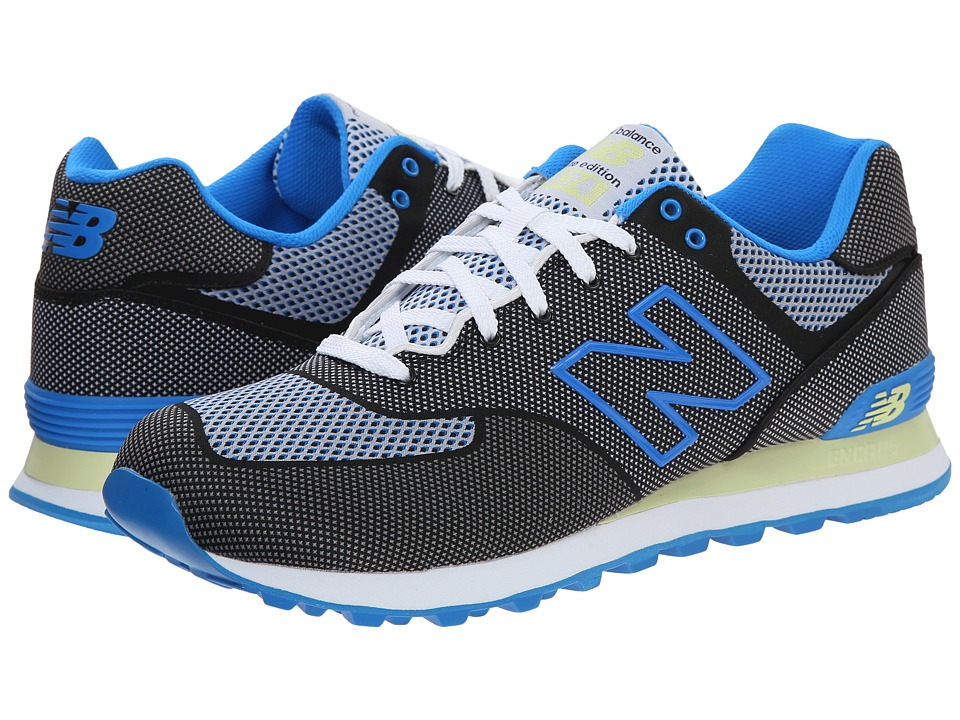 New Balance Classics - ML574 - Woven Collection (Black/Blue/Textile) Men's Shoes
