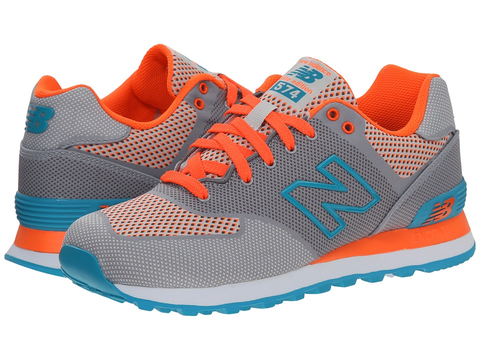 New Balance Classics WL574 Woven Collection (Grey/Textile) Women