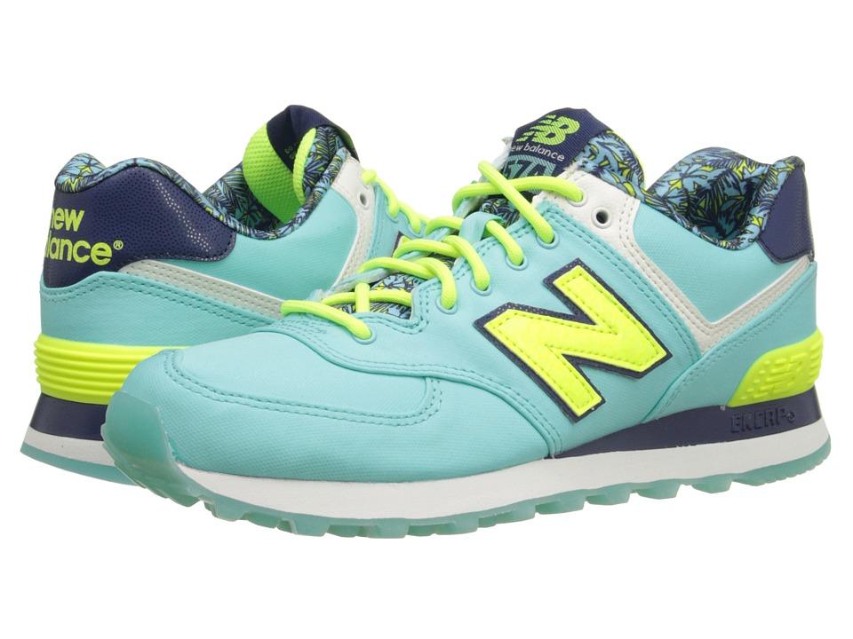 New Balance Classics - WL574 - Luau Collection (Blue/Yellow/Textile) Women's Classic Shoes