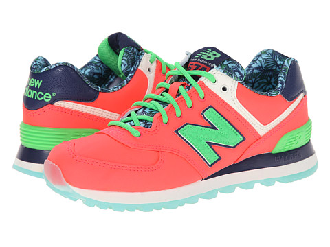 New Balance Classics - WL574 - Luau Collection (Pink/Green/Textile) Women