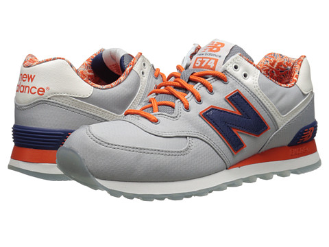 New Balance Classics - ML574 - Luau Collection (Grey/Navy/Textile) Men's Classic Shoes