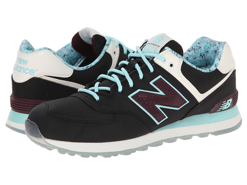 New Balance Classics - ML574 - Luau Collection (Black/Blue/Textile) Men's Classic Shoes