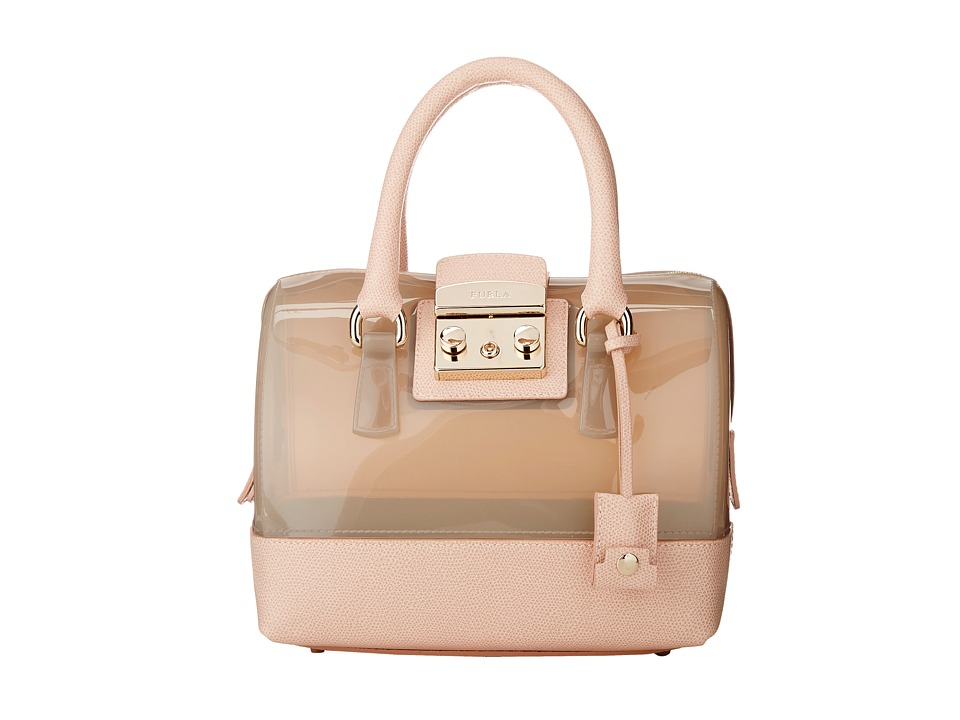 Furla - Candy Vanilla Mini Satchel (Marble/Magnolia) Satchel Handbags