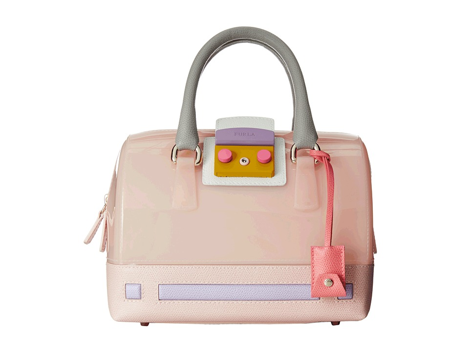 Furla - Candy Vanilla Cartoon Mini Satchel (Magnolia) Satchel Handbags