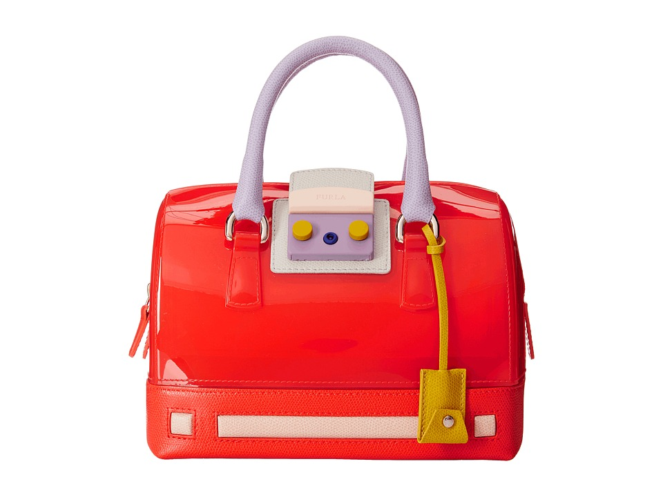 Furla - Candy Vanilla Cartoon Mini Satchel (Speed+Hibiscus) Satchel Handbags