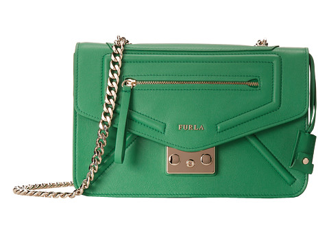 Furla - Alice Small Crossbody (Emerald) Cross Body Handbags