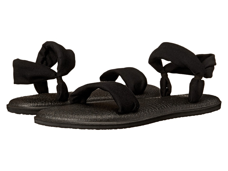 Sanuk - Yoga Duet (Black) Women's Sandals