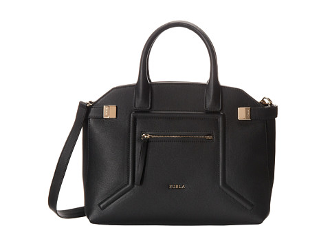 Furla - Alice Small Top-Handle (Onyx) Top-handle Handbags