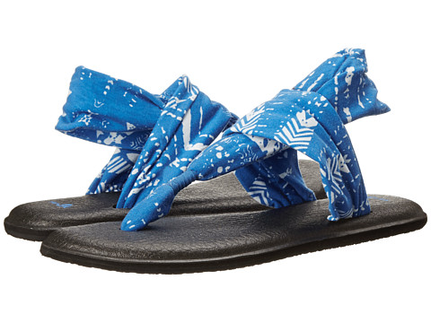 Sanuk - Yoga Sling 2 Prints (Bright Blue Tribal) Women's Sandals