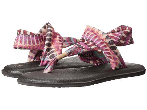 Sanuk - Yoga Sling 2 Prints (Fuchsia Pinwheel) Women's Sandals