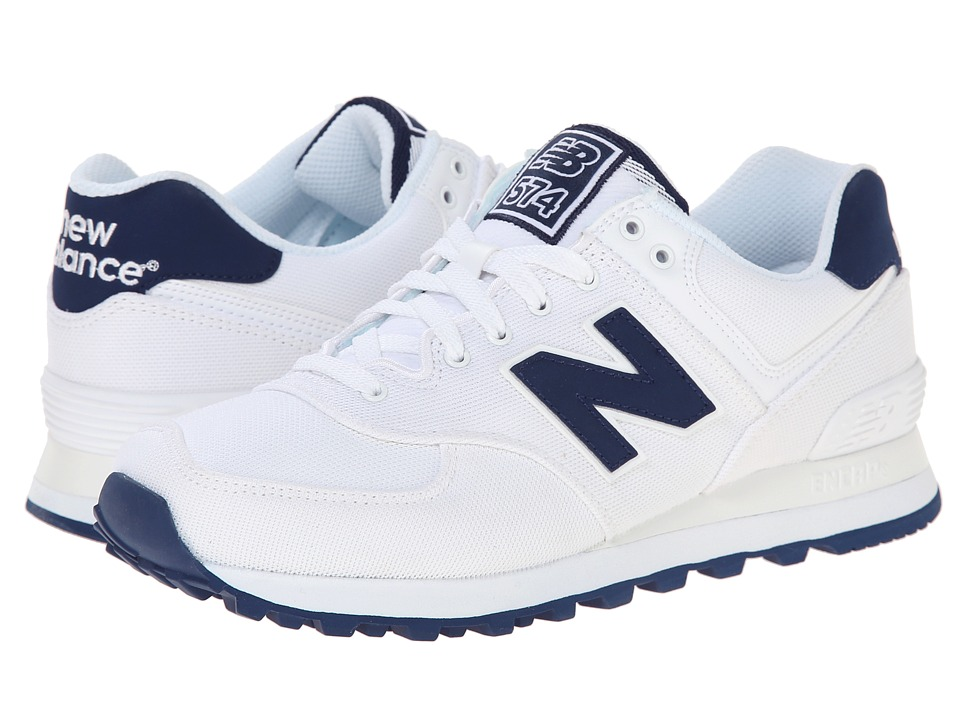 New Balance Classics - WL574 - Pique Polo Collection (White/Textile) Women's Classic Shoes