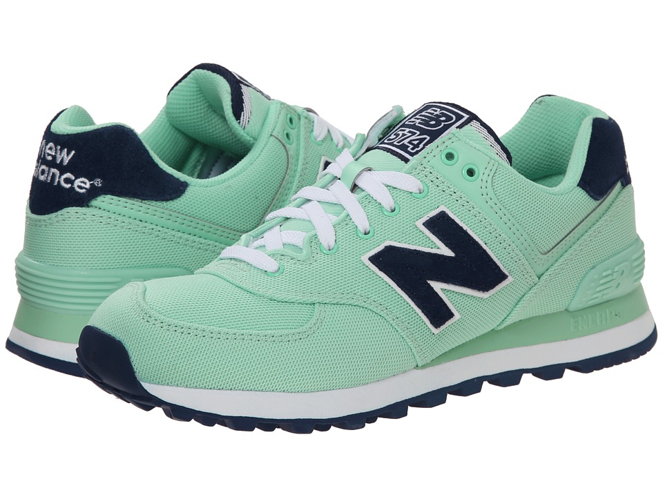 New Balance Classics - WL574 - Pique Polo Collection (Pistachio/Textile) Women