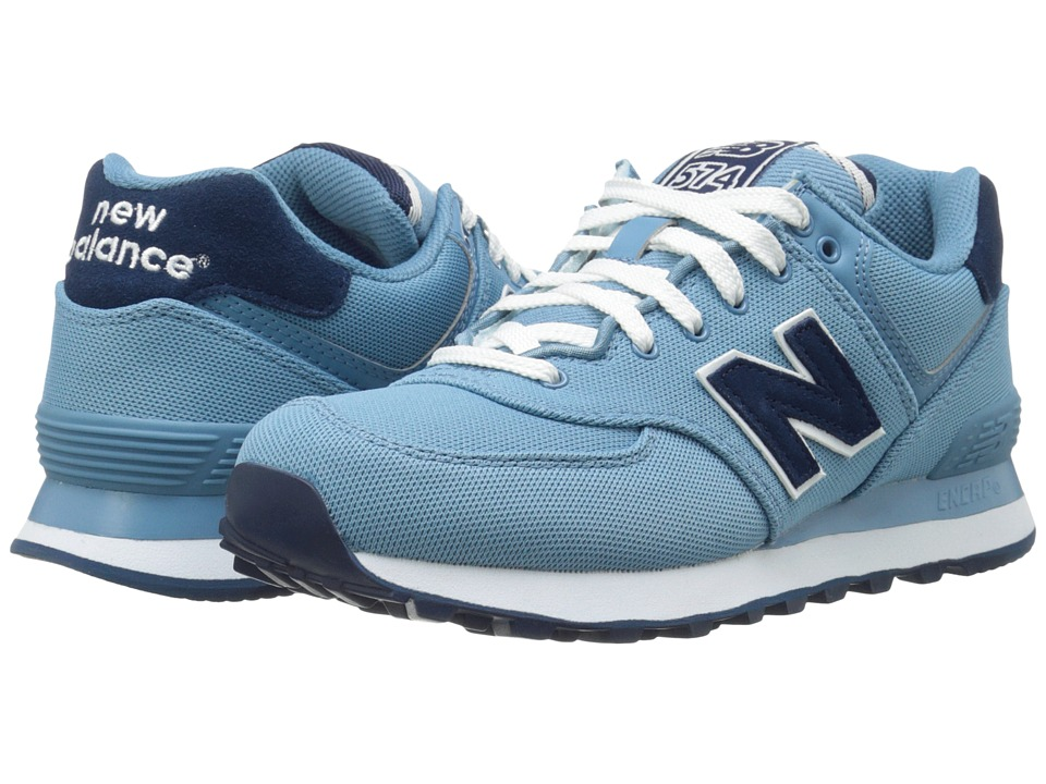 New Balance Classics - WL574 - Pique Polo Collection (Blue/Textile) Women