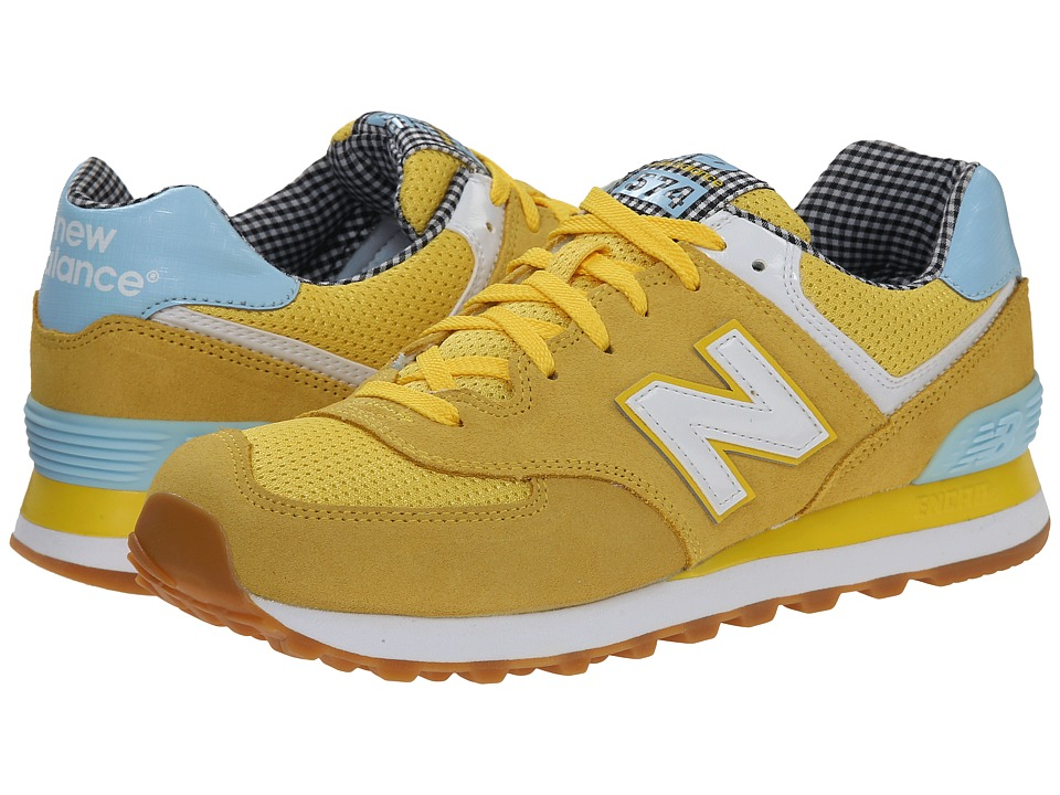 New Balance Classics - WL574 - Picnic Collection (Yellow/White/Suede/Mesh) Women