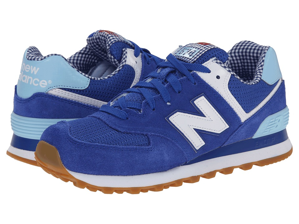 New Balance Classics - WL574 - Picnic Collection (Blue/White/Suede/Mesh) Women