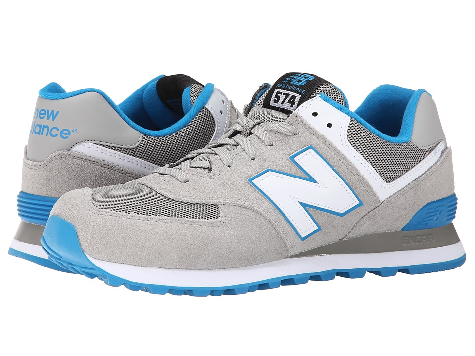 New Balance Classics - ML574 - Core Plus Collection (Grey/Blue/Suede/Mesh) Men