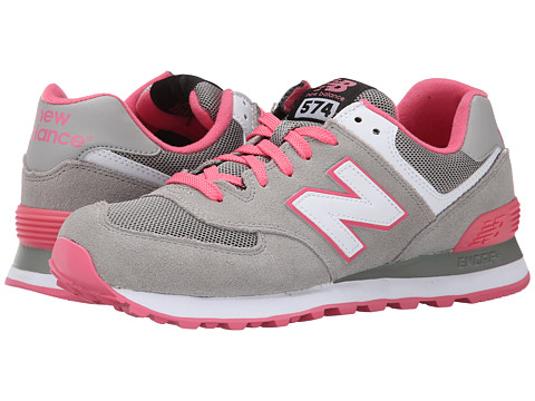 New Balance Classics - WL574 - Core Plus Collection (Grey/Pink/Suede/Mesh) Women