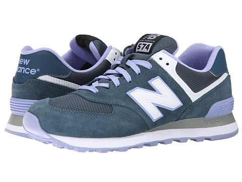 New Balance Classics - WL574 - Core Plus Collection (Blue/Purple/Suede/Mesh) Women's Classic Shoes