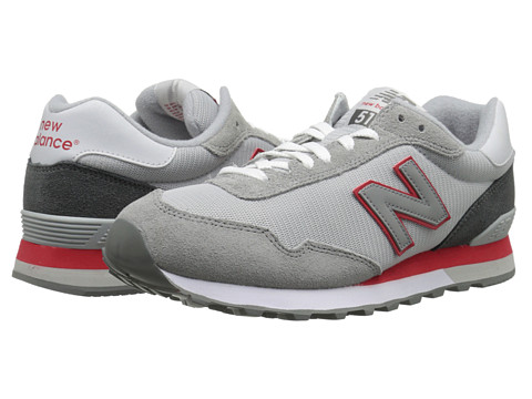 New Balance - ML515 (Grey/Red) Men's Running Shoes