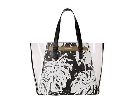 Vince Camuto - Jace Large Tote (Palm Print/Gray) Tote Handbags