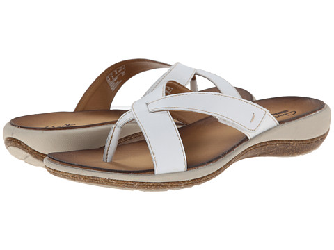 Clarks - Taline Stir (White Leather) Women's Sandals