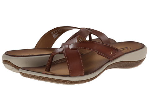 Clarks - Taline Stir (Rust Leather) Women's Sandals