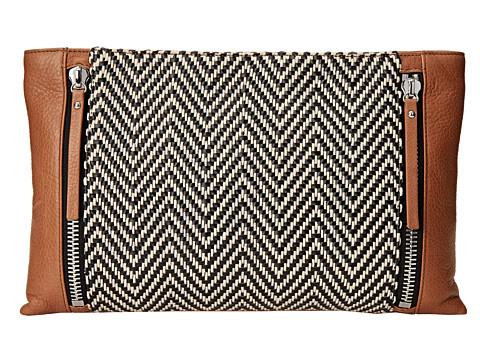 Vince Camuto - Baily Clutch (Bourbon/Black) Clutch Handbags