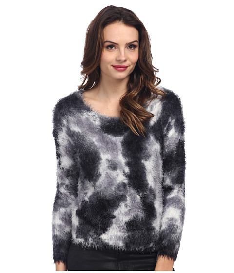 TWO by Vince Camuto - Tie-Dyed Eyelash Yarn Pullover (Vanilla) Women's Sweater