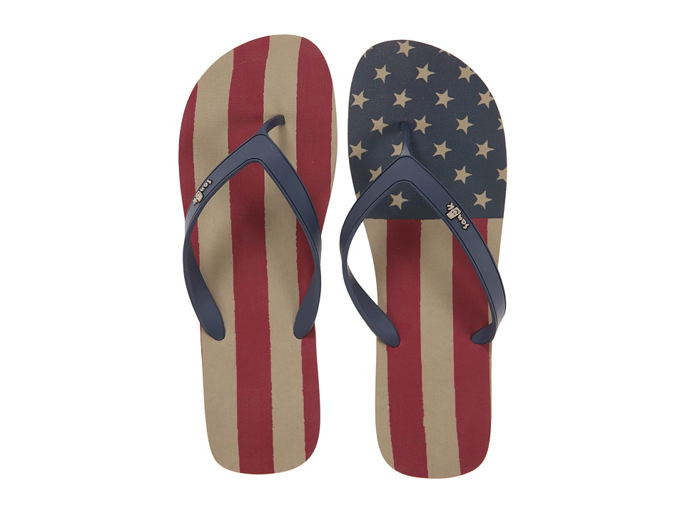 Sanuk - Tropic Funder Patriot (American Flag) Men