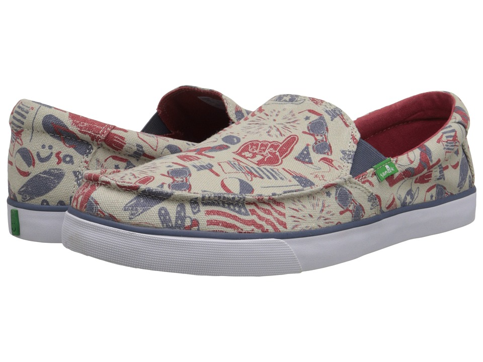 Sanuk - Sideline Patriot (American Icon) Men's Slip on Shoes