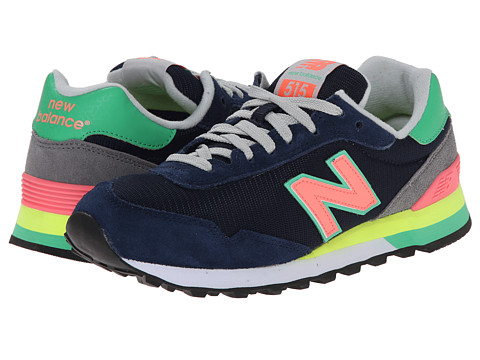 New Balance - WL515 (Navy/Orange) Women's Running Shoes