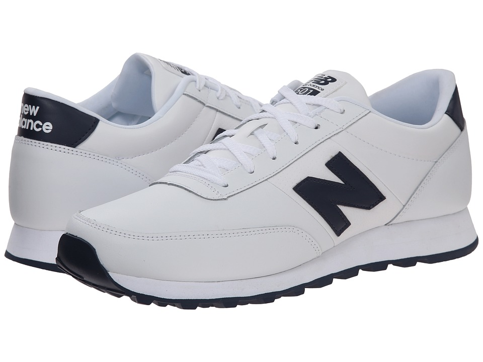 New Balance Classics - NB501 (White/Navy) Men's Running Shoes