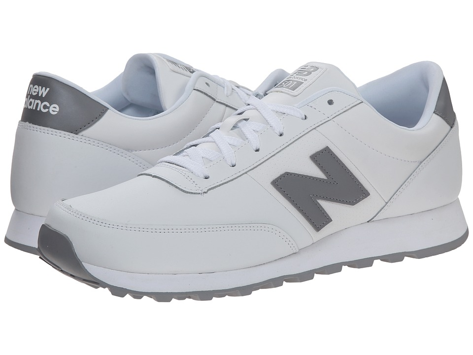 New Balance - NB501 (White/Steel Grey) Men's Running Shoes