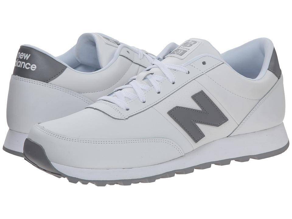 New Balance - NB501 (White/Steel Grey) Men's Running Shoes