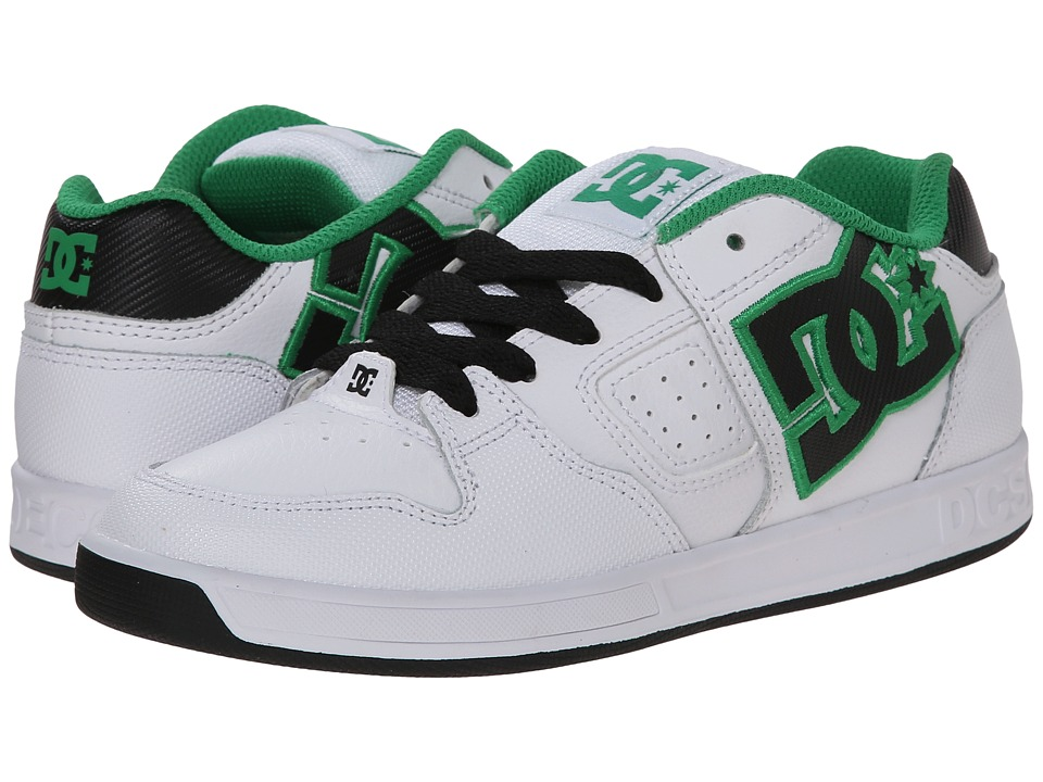 DC Kids - Sceptor (Little Kid) (White/Black/Green) Boys Shoes
