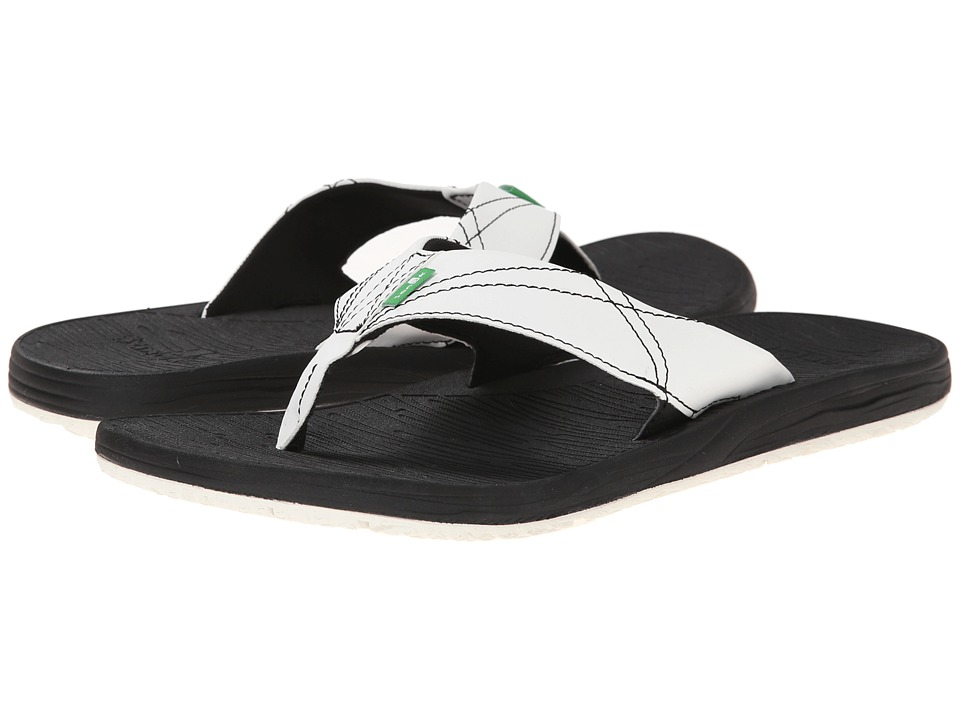 Sanuk - Latitude (Black/White) Men's Sandals