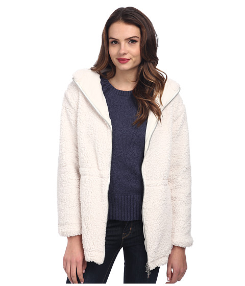 TWO by Vince Camuto - Polar Bear Faux Fur Hooded Knit Parka (Vanilla) Women's Coat
