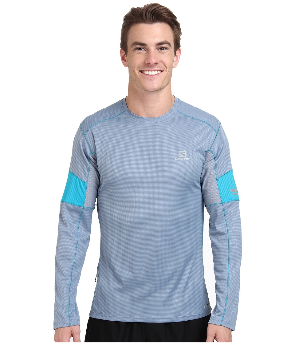 Salomon - Agile L/S Tee (Stone Blue/Summit Blue) Men's T Shirt