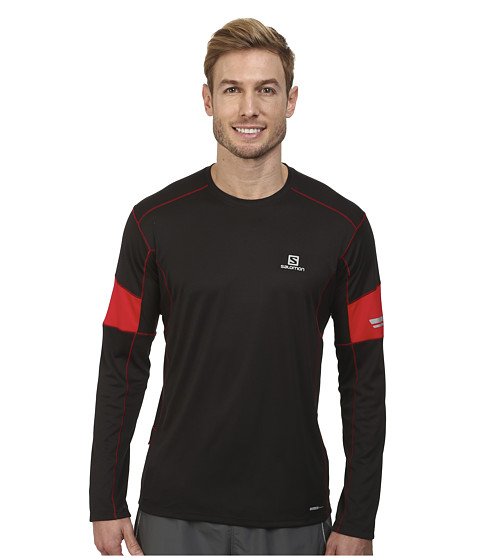 Salomon - Agile L/S Tee (Black/Matador-X/Dark Cloud) Men's T Shirt
