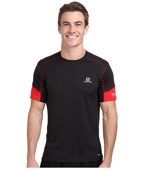 Salomon - Agile S/S Tee (Black/Matador-X/Dark Cloud) Men's T Shirt