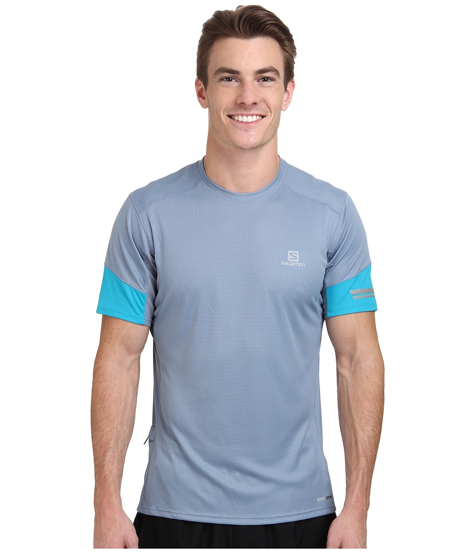 Salomon - Agile S/S Tee (Stone Blue/Summit Blue) Men