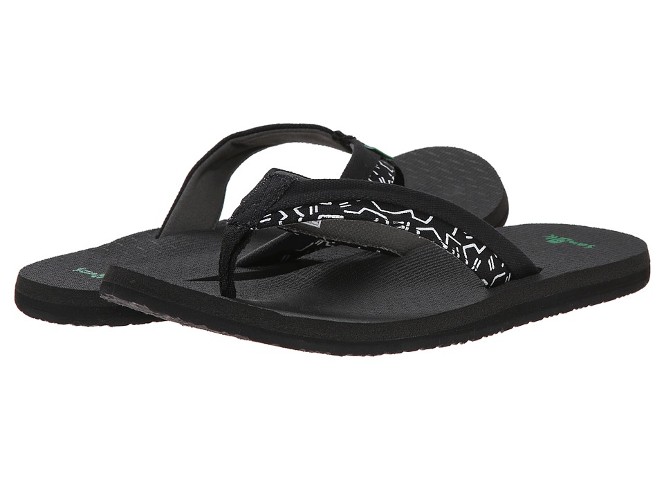 Sanuk - Beer Cozy Light Funk (Black/White Boogie) Men's Sandals