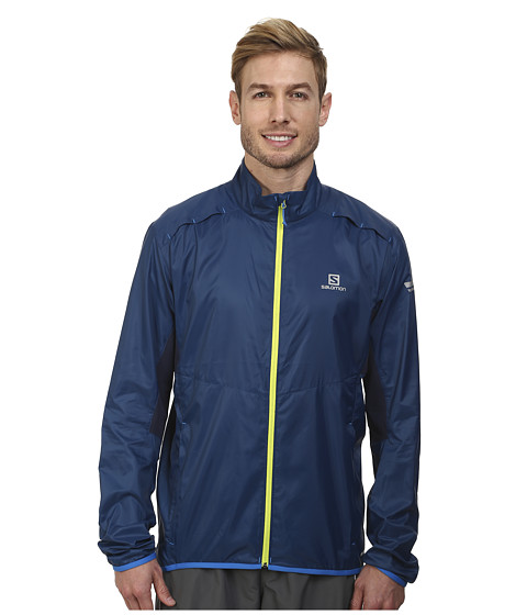 Salomon - Agile Jacket (Midnight Blue/Big Blue-X) Men's Coat
