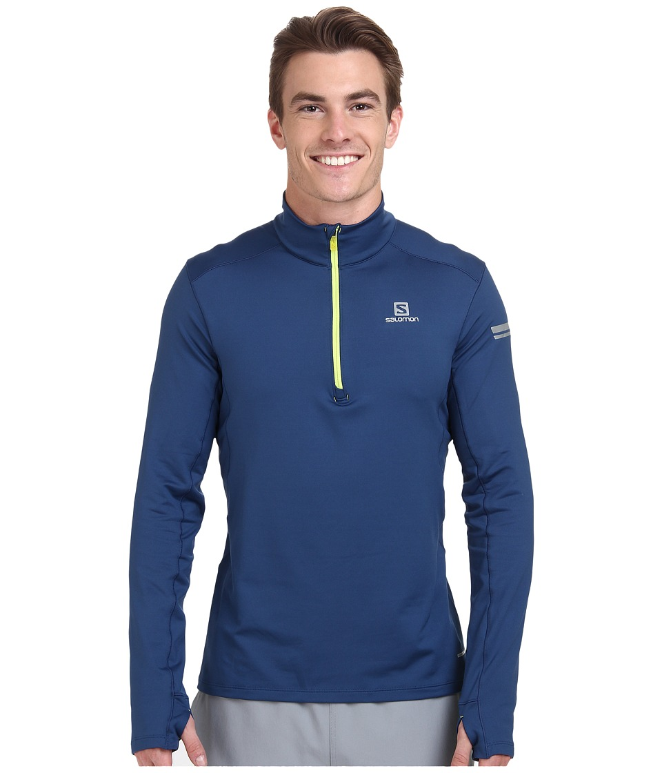 Salomon - Agile 1/2 Zip Mid (Midnight Blue) Men's Sweatshirt
