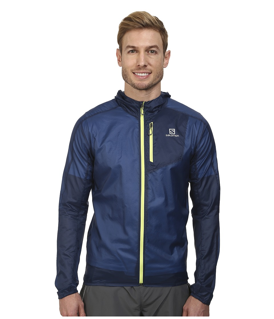 Salomon - Fast Wing Hoodie (Midnight Blue) Men's Sweatshirt