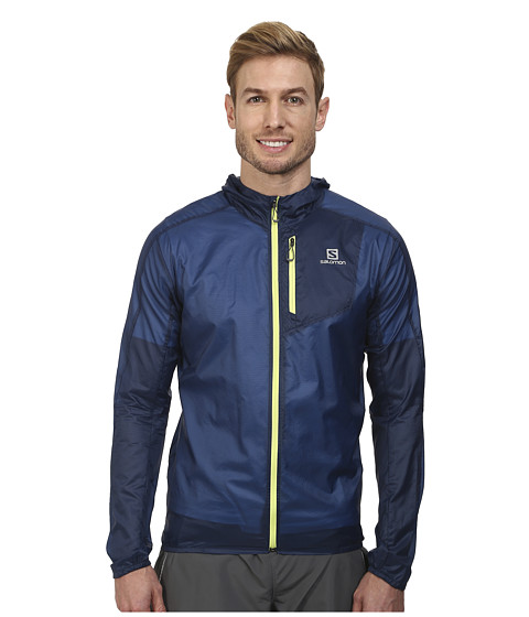 Salomon - Fast Wing Hoodie (Midnight Blue) Men